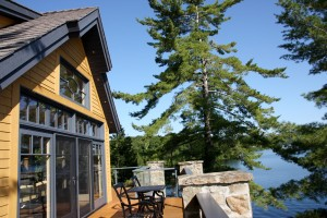Upper deck of Lake House